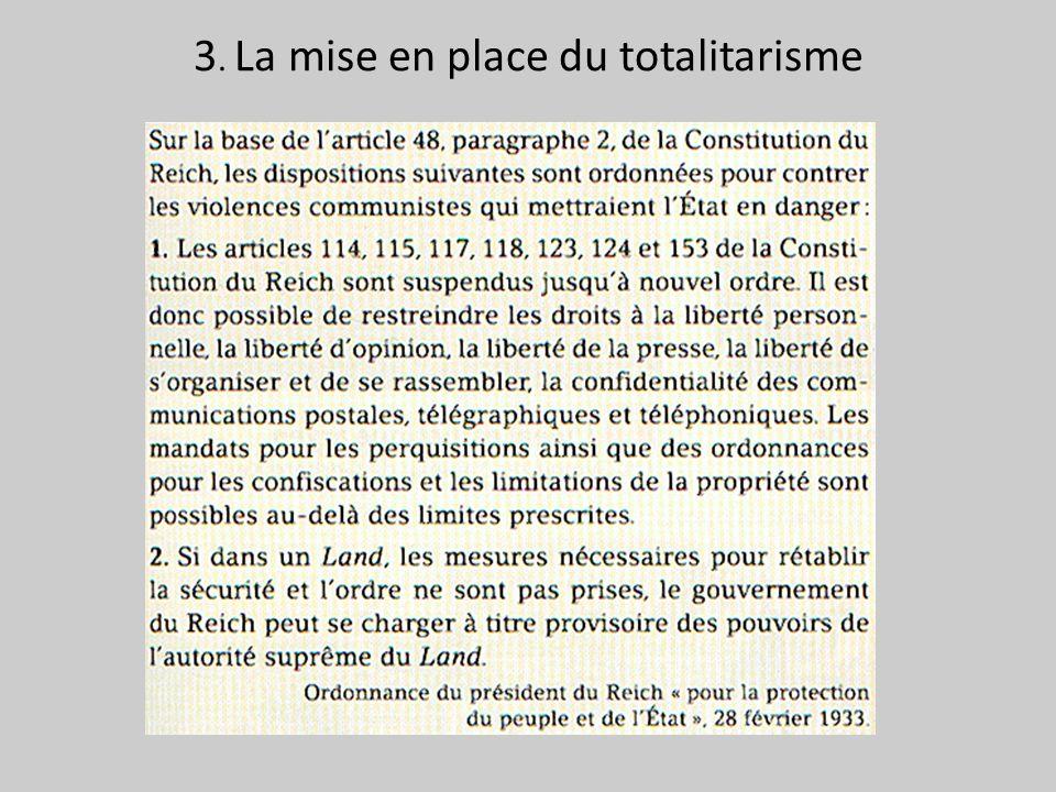 3. La mise en place du totalitarisme