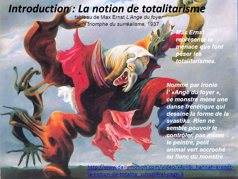 Introduction : La notion de totalitarisme http://www.dailymotion.com/video/x4zn6i_hannah-arendt- la-notion-de-totalita_school#rel-page-3 tableau de Ma