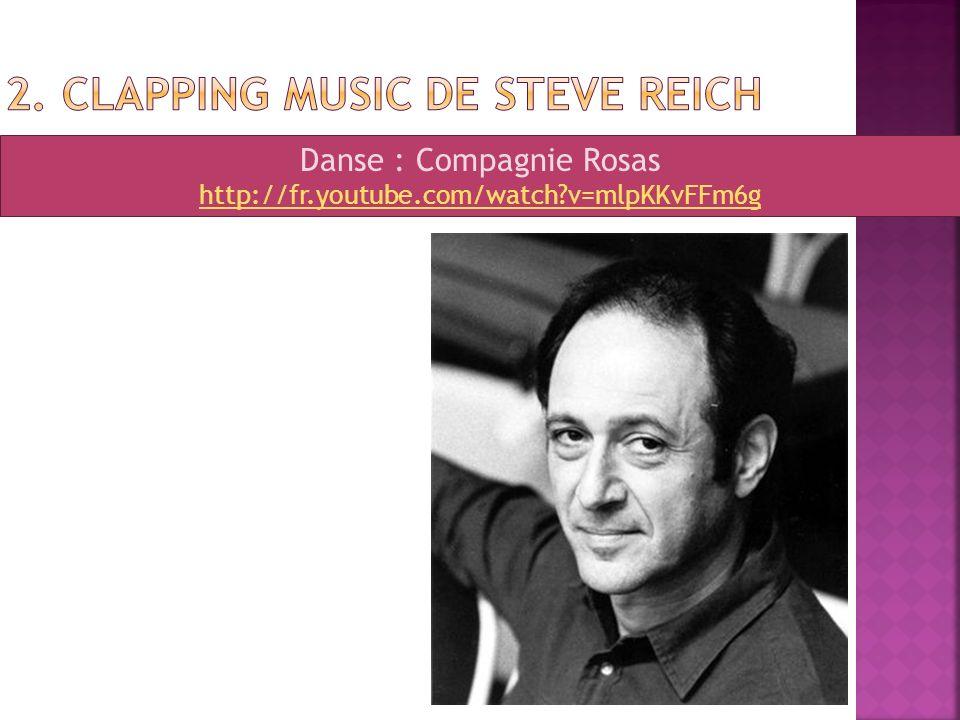 Danse : Compagnie Rosas http://fr.youtube.com/watch?v=mlpKKvFFm6g