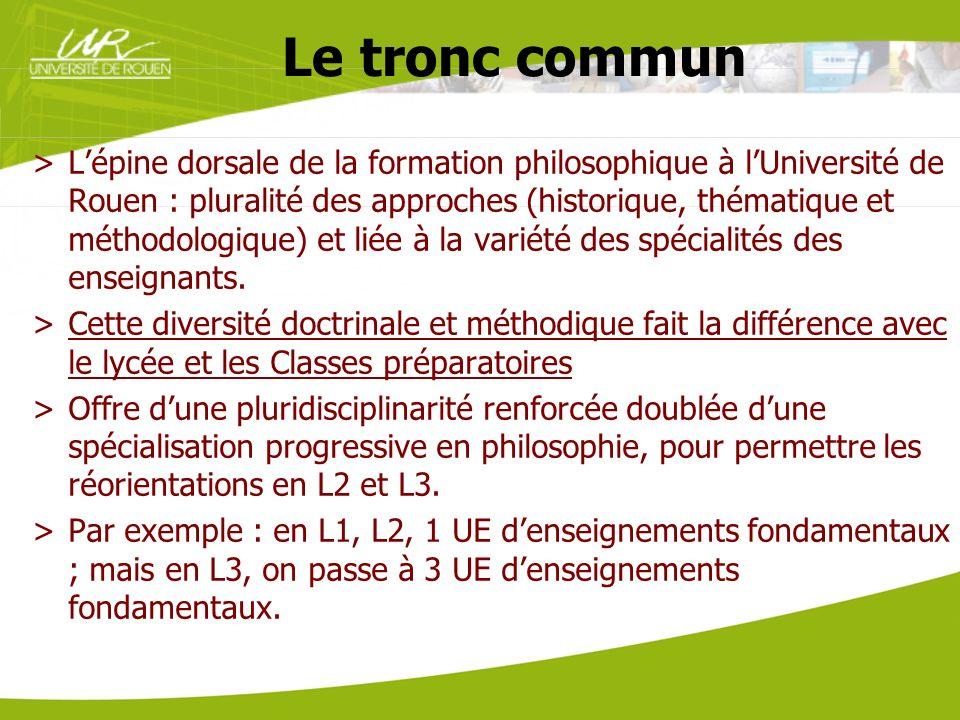 Le tronc commun >Lépine dorsale de la formation philosophique à lUniversité de Rouen : pluralité des approches (historique, thématique et méthodologiq