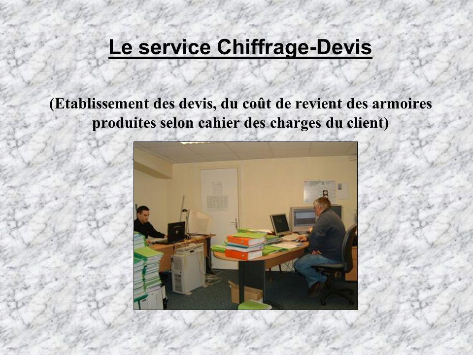 Le service Conception Bureau détudes (Définir le matériel à placer dans les armoires)