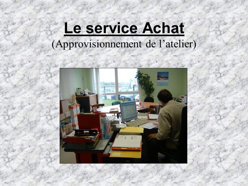 Le service Achat (Approvisionnement de latelier)