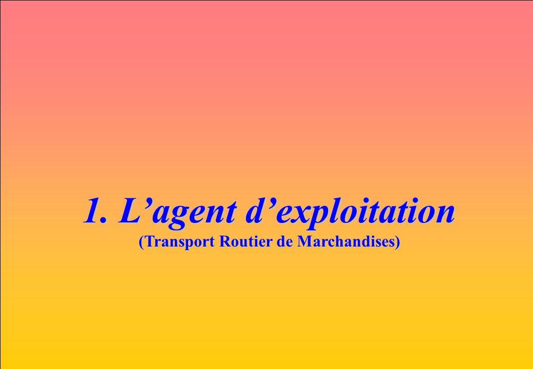www.iut-fr.net 1. Lagent dexploitation (Transport Routier de Marchandises)