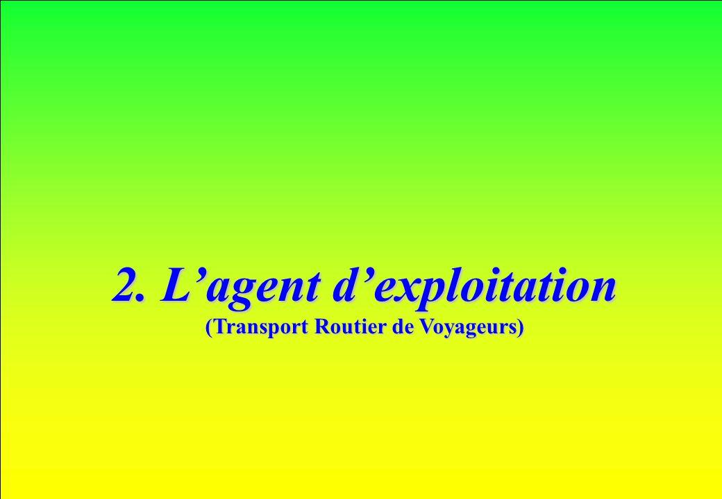 www.iut-fr.net 2. Lagent dexploitation (Transport Routier de Voyageurs)