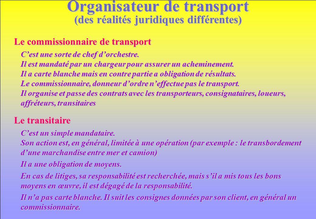 www.iut-fr.net Organisateur de transport (des réalités juridiques différentes) Cest une sorte de chef dorchestre. Il est mandaté par un chargeur pour