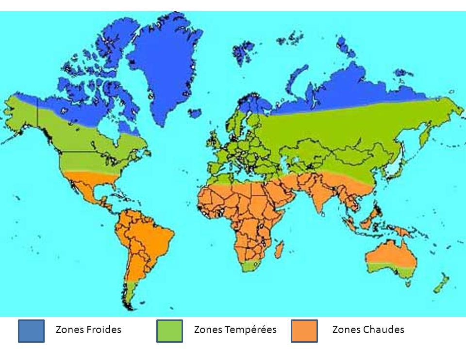 Zones FroidesZones TempéréesZones Chaudes