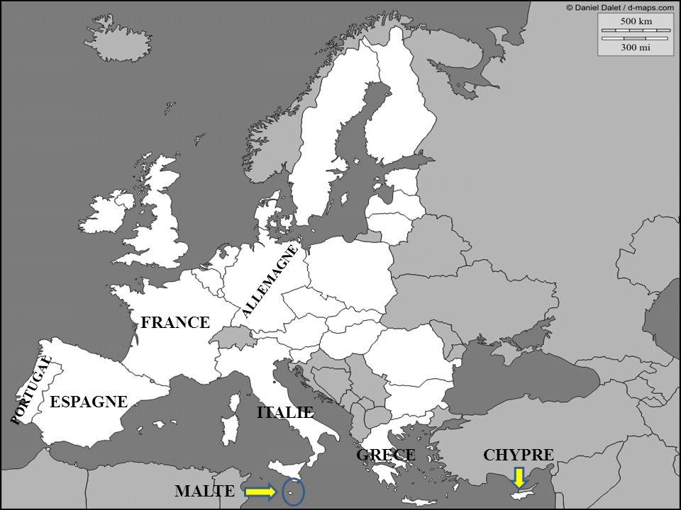ESPAGNE FRANCE ALLEMAGNE ITALIE ESPAGNE PORTUGAL GRECECHYPRE MALTE