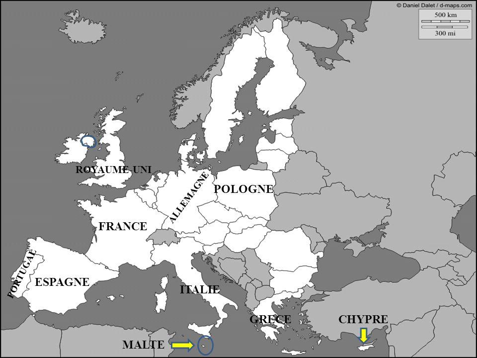 ESPAGNE FRANCE ALLEMAGNE ITALIE ESPAGNE PORTUGAL GRECECHYPRE MALTE POLOGNE ROYAUME-UNI