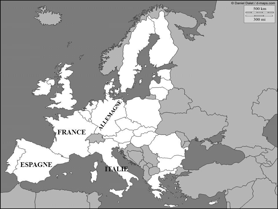 FRANCE ALLEMAGNE ITALIE ESPAGNE PORTUGAL