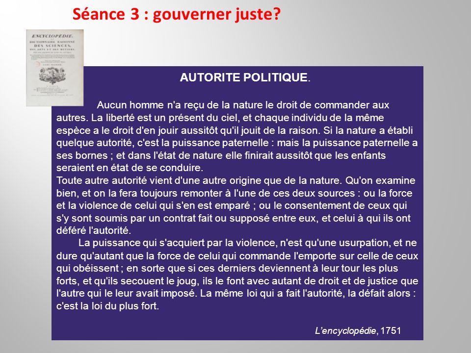 Séance 3 : gouverner juste.
