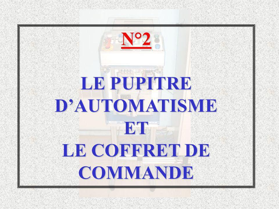 N°2 LE PUPITRE DAUTOMATISME ET LE COFFRET DE COMMANDE