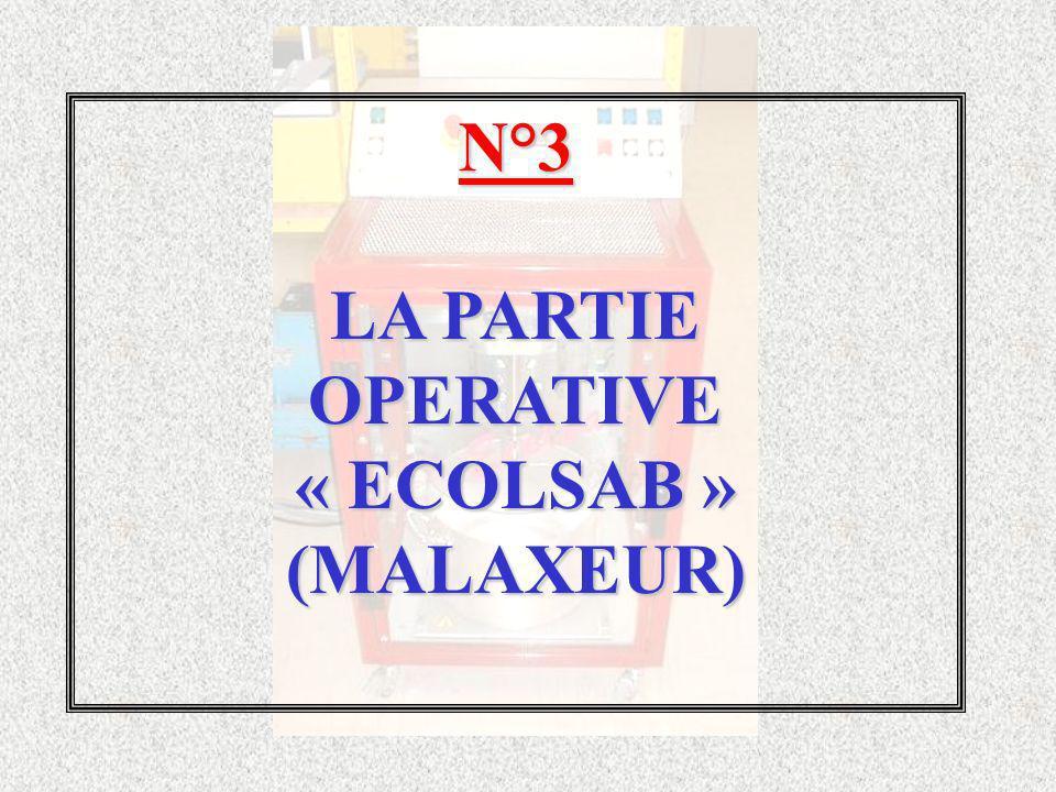 N°3 LA PARTIE OPERATIVE« ECOLSAB »(MALAXEUR)