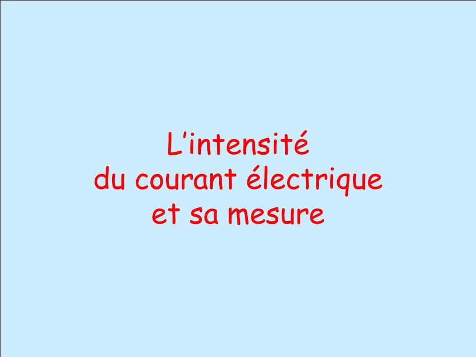 Lintensité du courant électrique et sa mesure