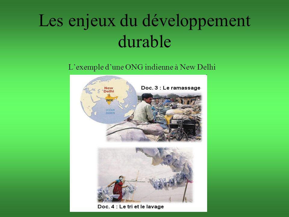Les enjeux du développement durable Lexemple dune ONG indienne à New Delhi P 192 doc 3