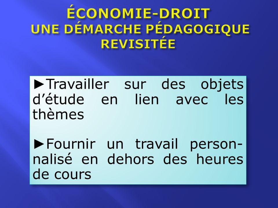 SOURCE : Programme déconomie–droit BO n° 20 du 20/05/10 (modalités dévaluation de léconomie-droit) Document daccompagnement de lépreuve déconomie-droit