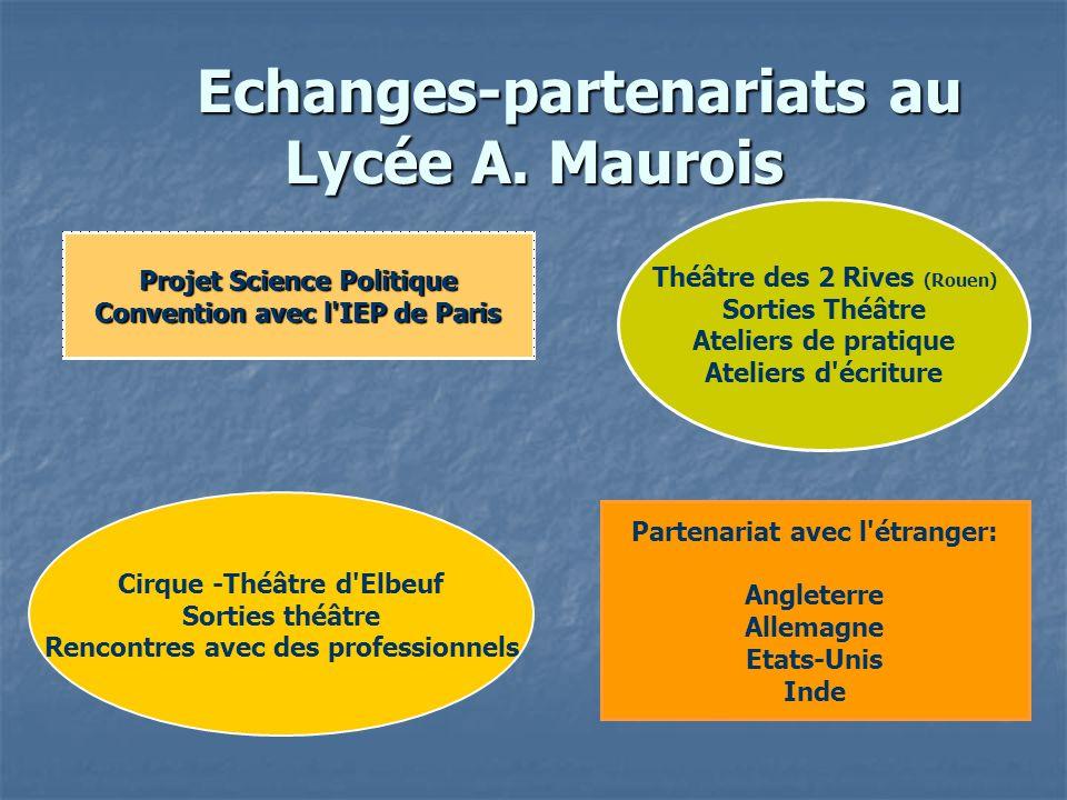 Echanges-partenariats au Lycée A.Maurois Echanges-partenariats au Lycée A.
