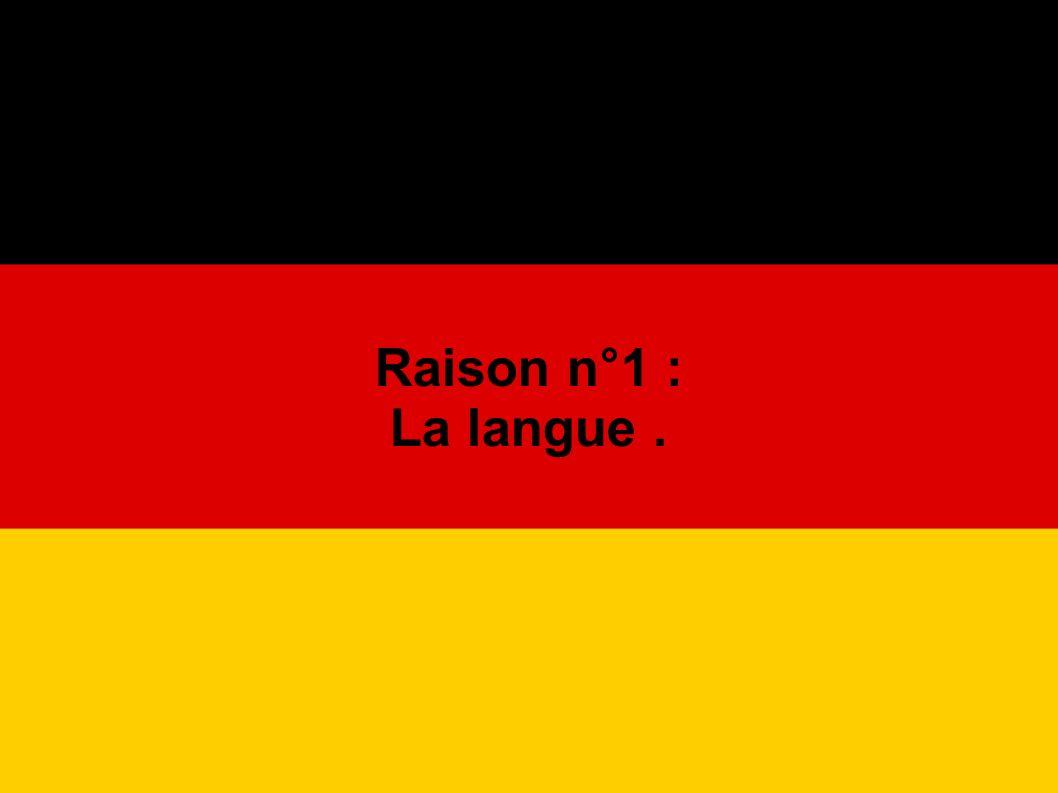 De par son histoire, la langue allemande possède beaucoup de mots d origine étrangère : ------> des mots d origine française tels que : die Post die Bank der Balkon das Foto die Lampe das Telefon