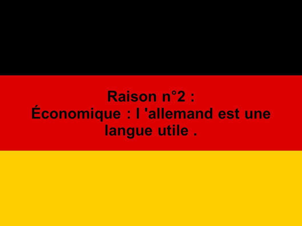 L Allemagne est le premier partenaire économique de la France.