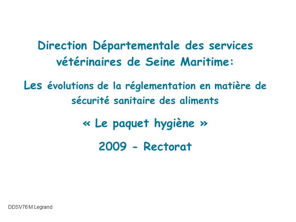 Le règlement 178/2002 : Article 18 et traçabilité 22/09/2005Isabelle LEDEDENTE Séminaire des DDSV