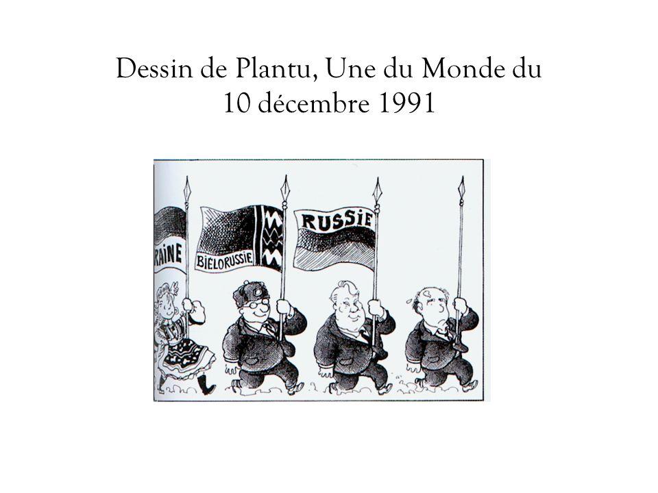 Dessin de Plantu, Une du Monde du 10 décembre 1991