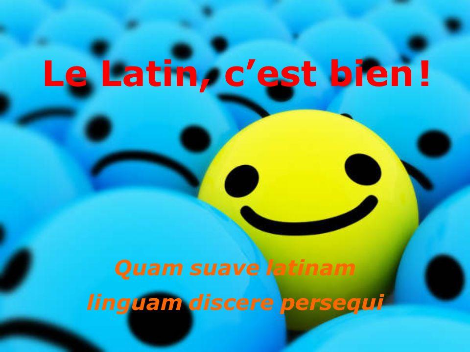Le Latin, cest bien! Quam suave latinam linguam discere persequi