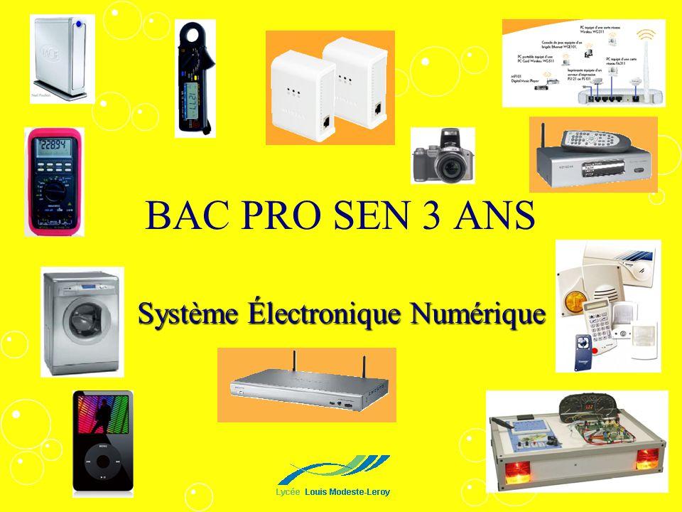 BAC PRO SEN 3 ANS Système Électronique Numérique