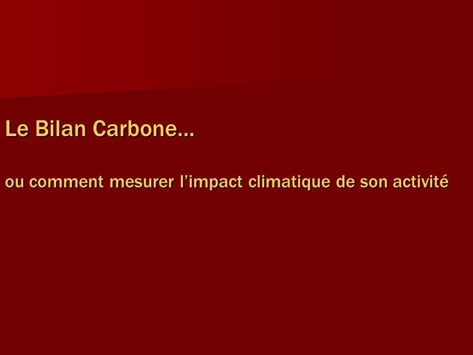 Le Bilan Carbone… ou comment mesurer limpact climatique de son activité