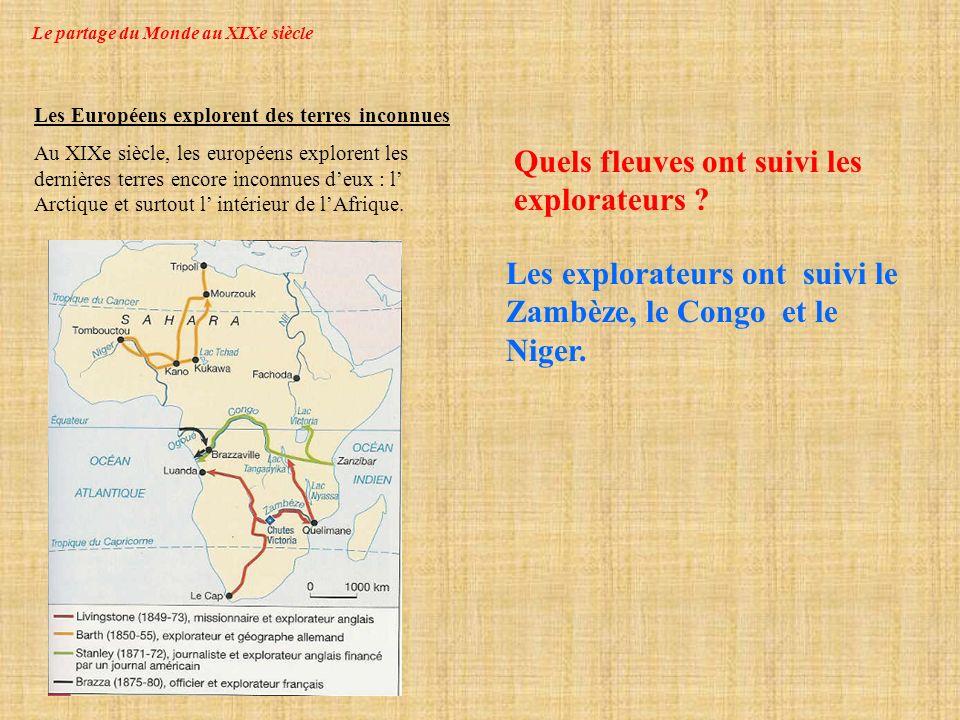 Le partage du Monde au XIXe siècle Comment sont appelées les populations des colonies .
