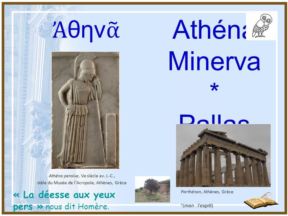 Athéna est la fille de Zeus et de Métis, la déesse de la ruse La scène principale montre, probablement pour la première fois en Attique, la naissance d Athéna, jeune déesse surgissant du crâne de son père Zeus.