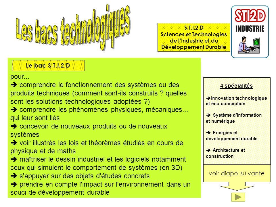 pour... comprendre le fonctionnement des systèmes ou des produits techniques (comment sont-ils construits ? quelles sont les solutions technologiques