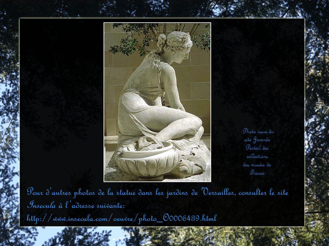 Pour dautres photos de la statue dans les jardins de Versailles, consulter le site Insecula à ladresse suivante: http://www.insecula.com/oeuvre/photo_
