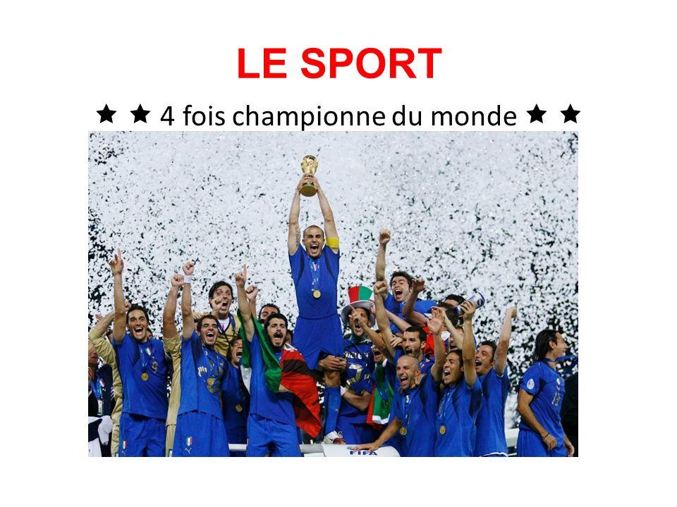 LE SPORT 4 fois championne du monde