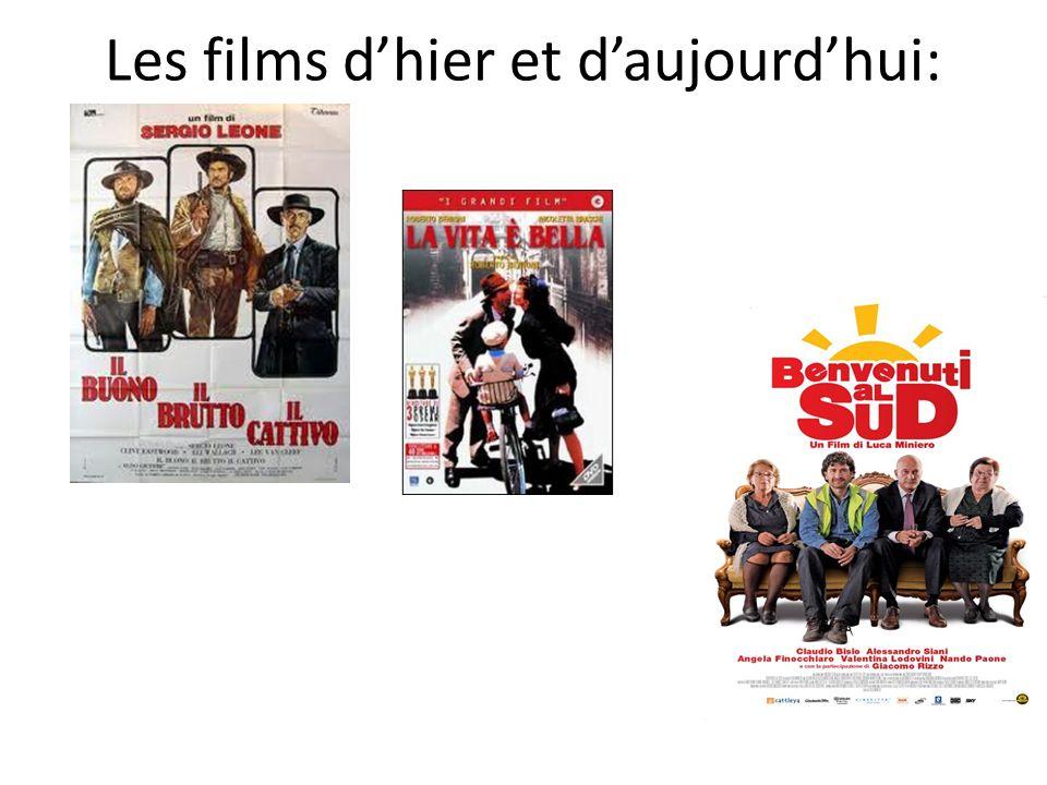Les films dhier et daujourdhui: