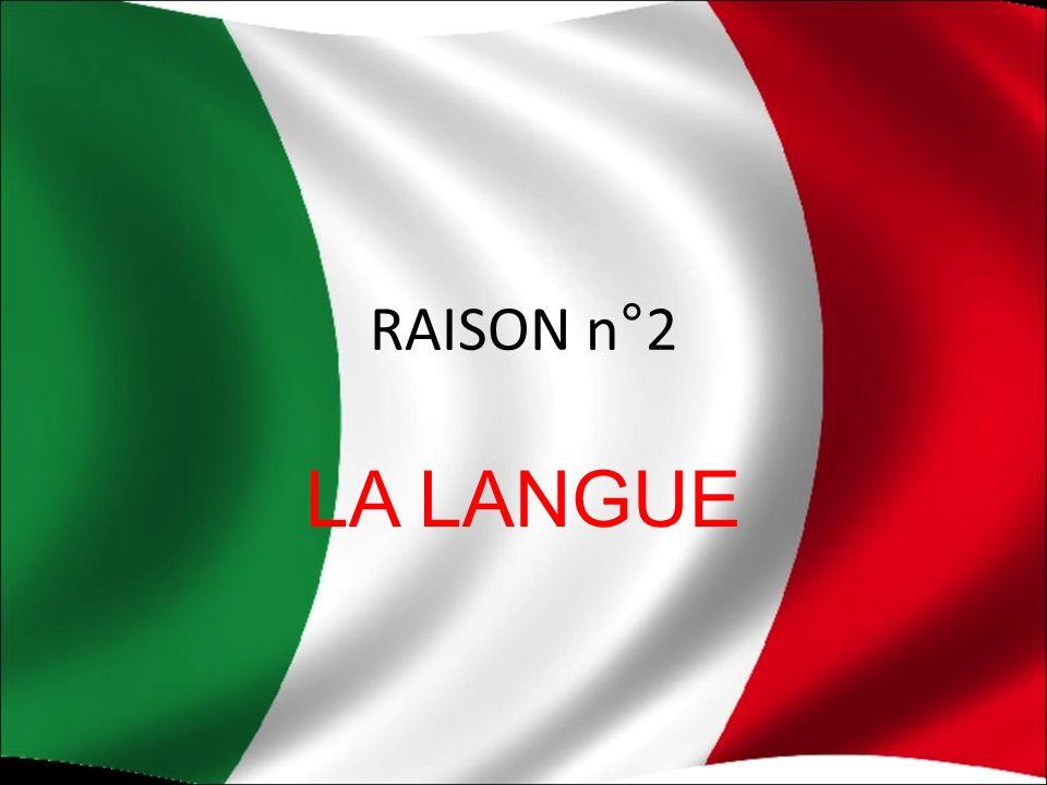 RAISON n°2 LA LANGUE