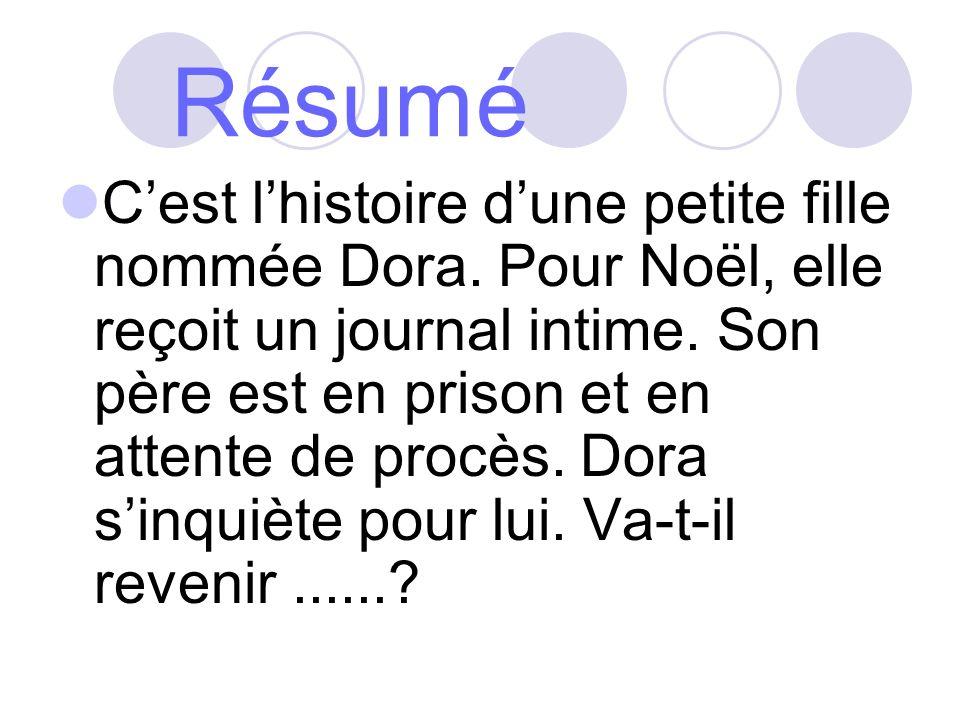 Les personnages Dora, la personnage principal.Loïc, son père.