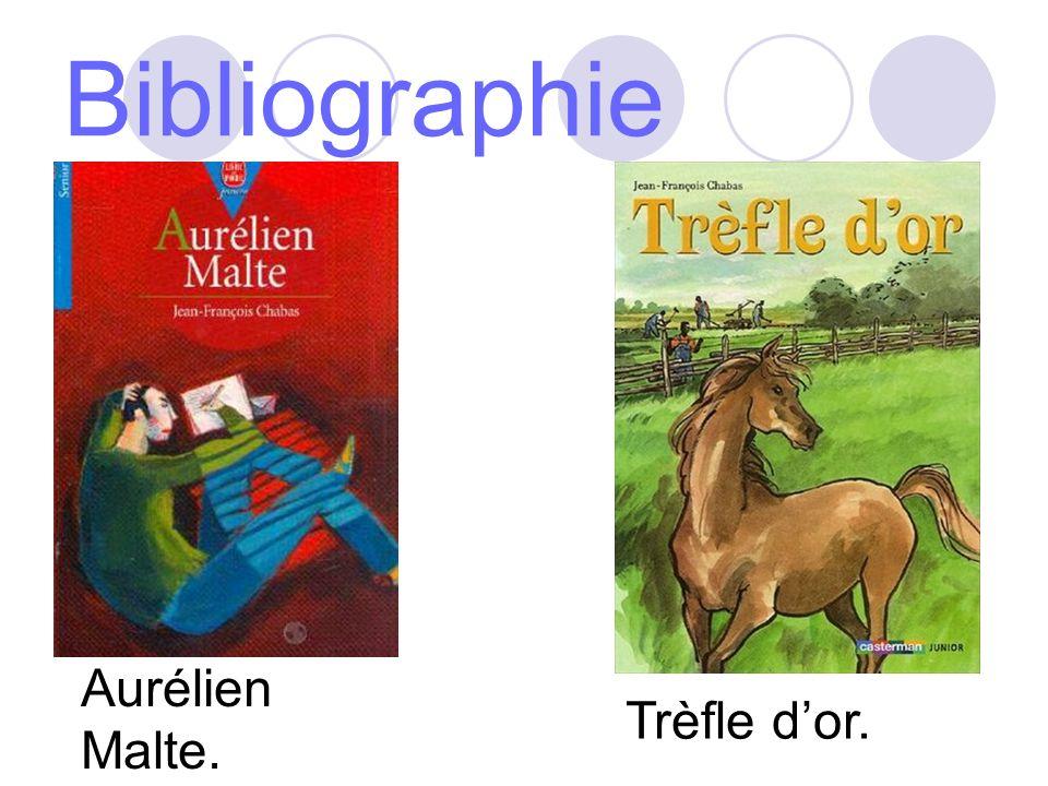 Bibliographie Aurélien Malte. Trèfle dor.