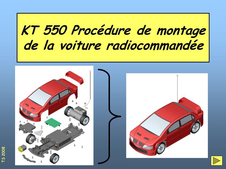 Organisation du poste de montage1 Sur le poste de travail il vous faudra : Un tournevis cruciforme La boîte contenant toutes les pièces de la voiture Un support de montage Un poste informatique pour suivre la procédure de montage TS 2008