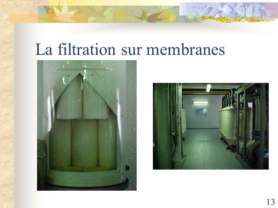 13 La filtration sur membranes