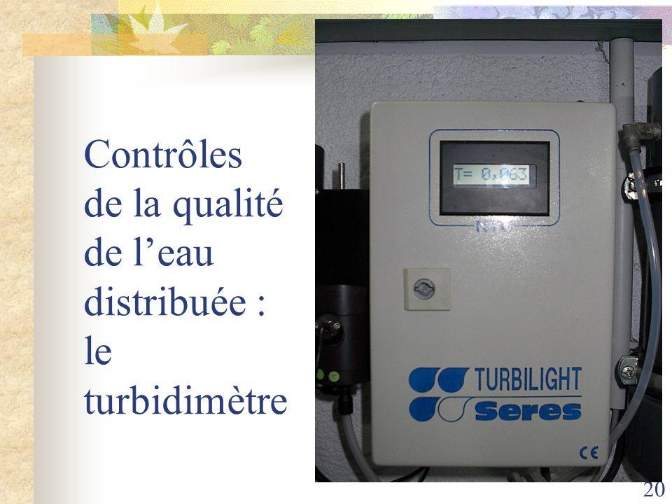 20 Contrôles de la qualité de leau distribuée : le turbidimètre