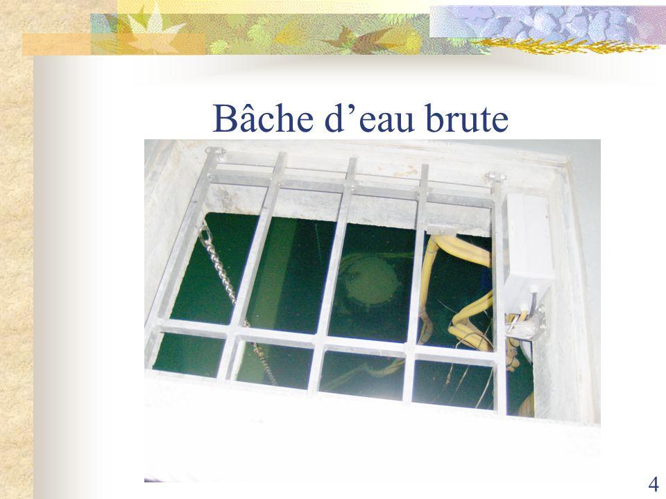 4 Bâche deau brute