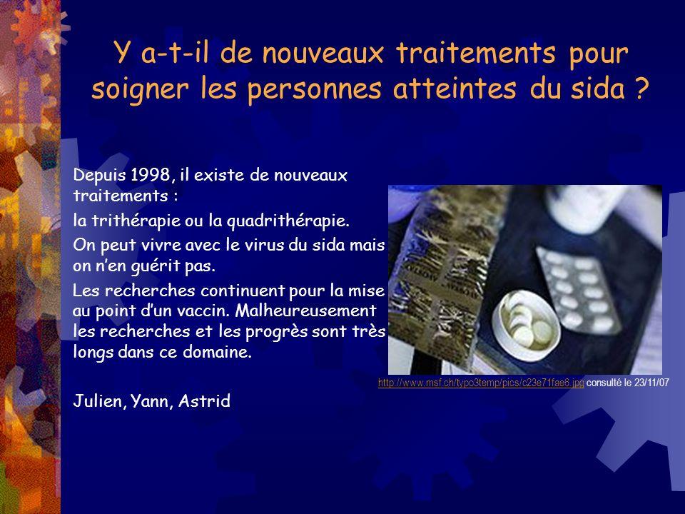 Y a-t-il de nouveaux traitements pour soigner les personnes atteintes du sida ? http://www.msf.ch/typo3temp/pics/c23e71fae6.jpghttp://www.msf.ch/typo3