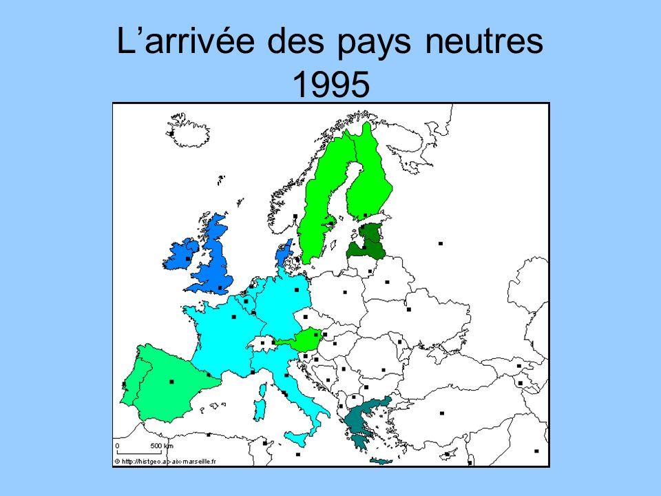 Larrivée des pays neutres 1995
