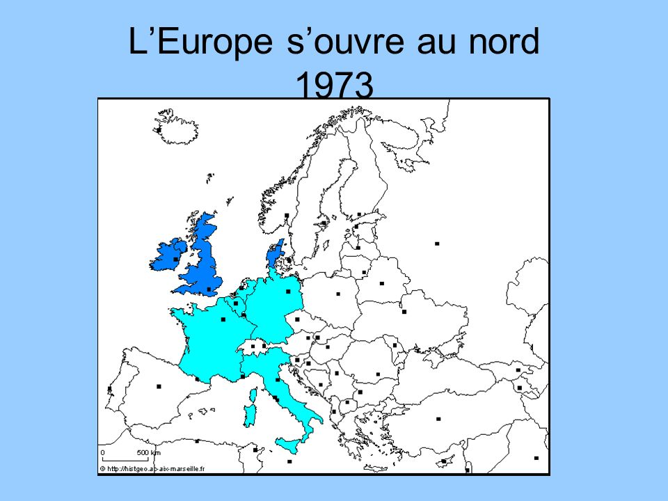 LEurope souvre au nord 1973
