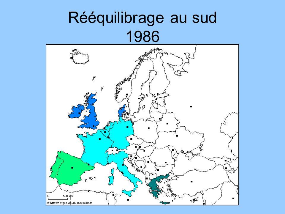 Rééquilibrage au sud 1986