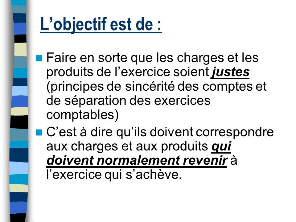 Les charges et les produits de lexercice LES CHARGES LES PRODUITS 6… 7… T O U T A U L O N G D E L E X E R C I C E