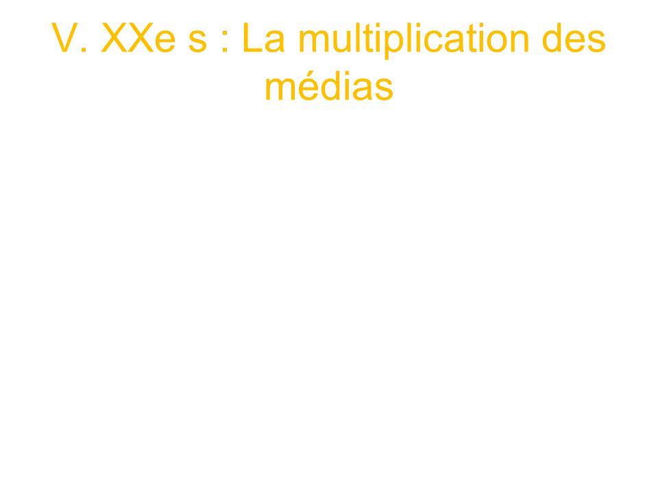 V. XXe s : La multiplication des médias