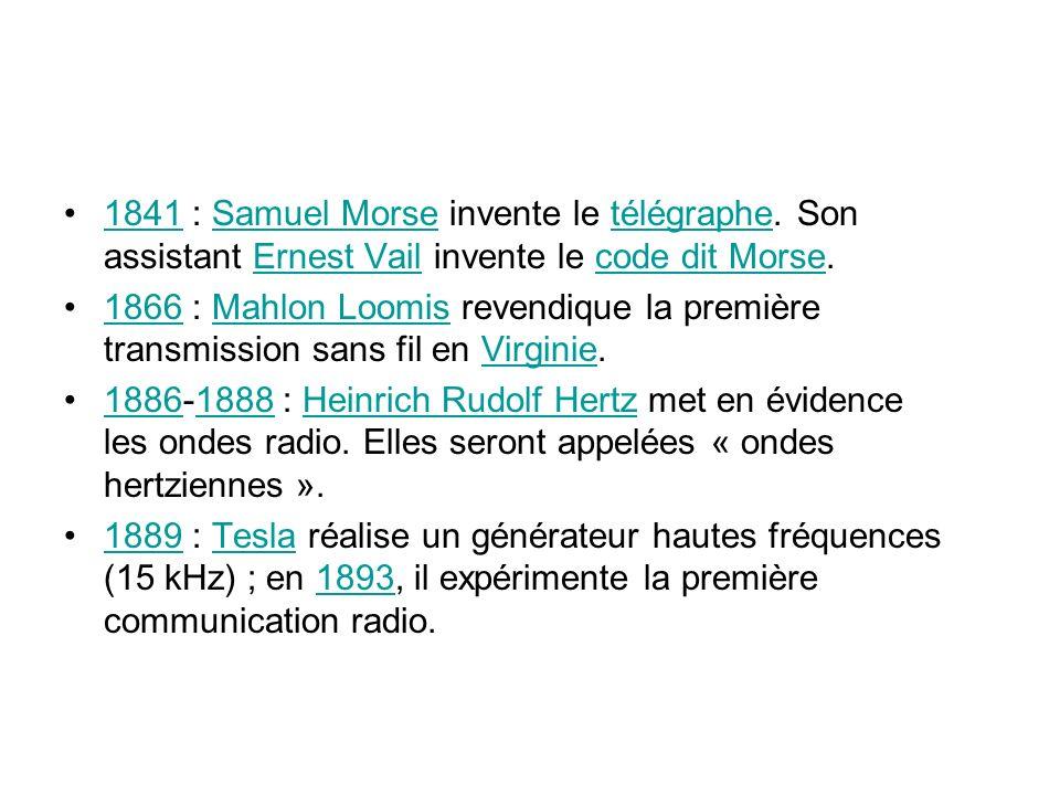 1841 : Samuel Morse invente le télégraphe.