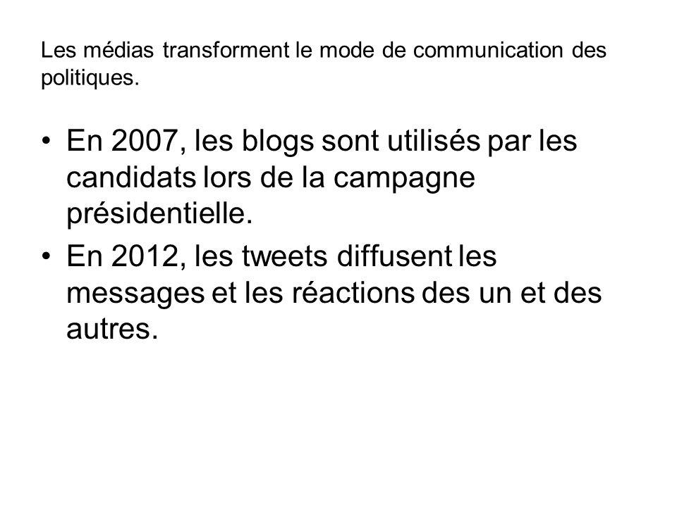 Les médias transforment le mode de communication des politiques.