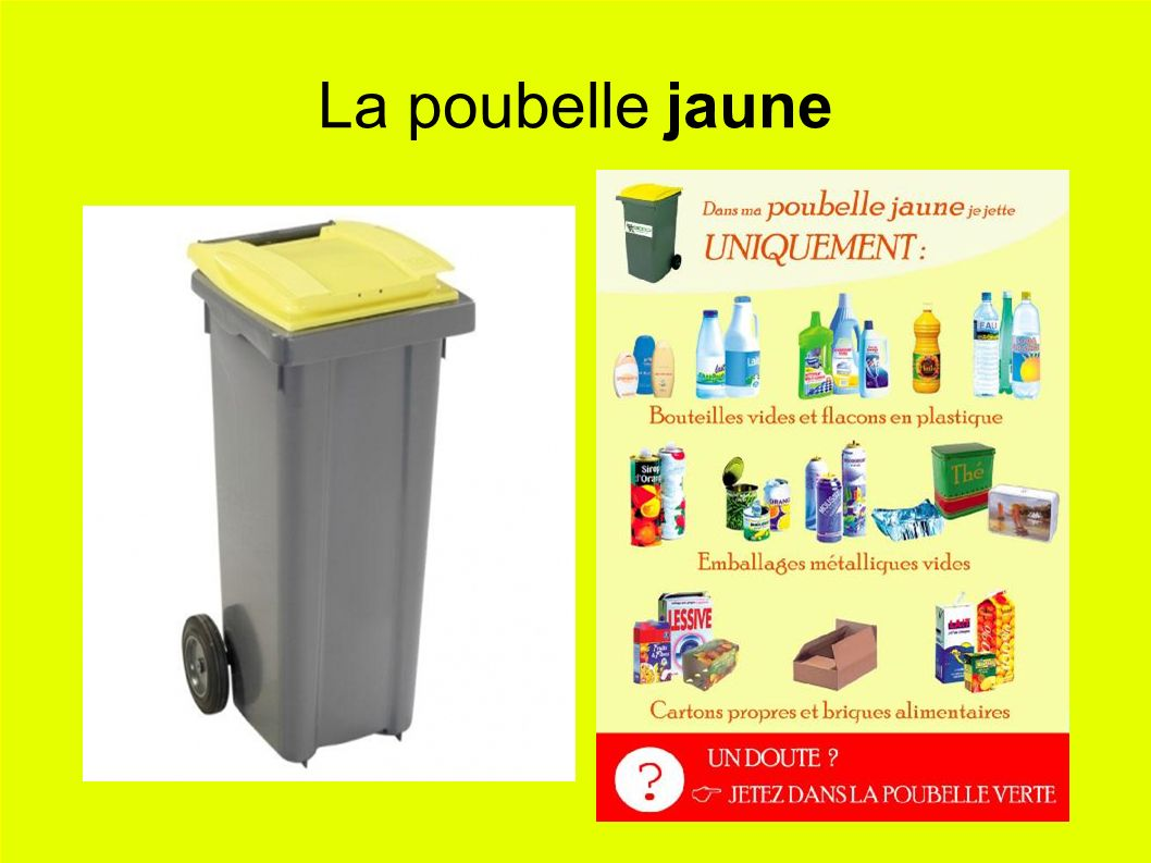 La poubelle jaune
