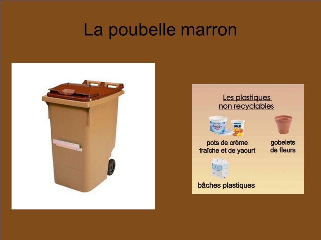 La poubelle marron